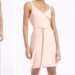 Everlane Wrap Tank Mini Dress Rose NWT